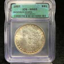 1897 Morgan Silver Dollar MS65 - Redfield Hoard