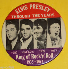 Elvis Presley Through The Years 1957-1977 Pictures Pinback Button! Nice See!