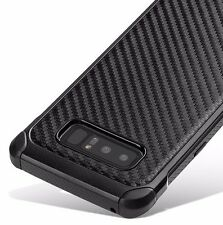 For Samsung Galaxy Note 8 -Hybrid Shockproof Armor Case Cover Black Carbon Fiber
