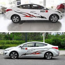 A Set Black Red RS-R Firebird Car Body Side PVC Garland Sticker Racing Decals