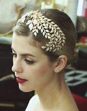 Vintage 20's Gold Leaf Headdress Headband Roman Hair Crown Grecian Flapper
