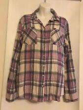 NEW Aeropostale Size XLG Lavender Plaid Long Sleeve Button Down Shirt NWT $46.50