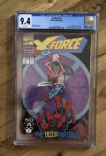1991 Marvel Comics X-Force #2 Comic Book CGC Grade 9.4 White  Pages New Case