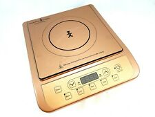 COPPER CHEF PORTABLE ELECTRIC INDUCTION COOKTOP, DIGITAL DISPLAY, 5 PRESETS,