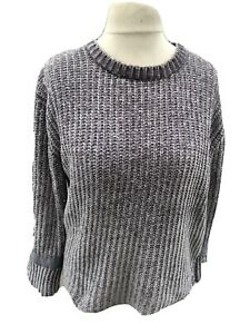 Red Herring Size 12 Chunky Knit Grey Chenille Jumper G1 *