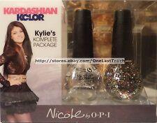 KARDASHIAN* 2pc Kolor OPI Nicole KYLIE KOMPLETE PACKAGE Nail Polish Set NEW! 1b