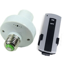 Remote Control E27 10M Screw Wireless Light Lamp Bulb Holder Cap Socket Switch*1