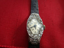 ANTIQUE TISSOT LADY'S DIAMOND, PLATINUM WATCH