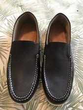 EUC! Hush Puppies Bob Portland Mens Dark Brown Leather Loafers Shoes Sz 16 M