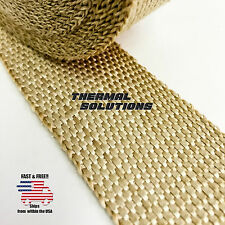 "5FT/60""L 2""W EXHAUST HEADER TURBO MANIFOLD PIPE TAN HEAT SHIELD WRAP TAPE"