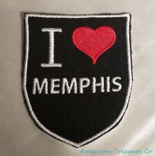 Embroidered Retro Vintage Style I Love Memphis Tennessee TN State Patch Iron On