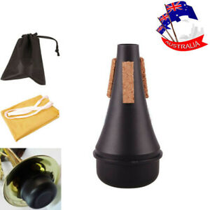Lightweight Trumpet Practice Mute Silencer Musical +Cleaning Cloth + Bag Plastic