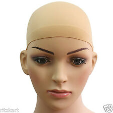 Ritzkart 2pc Skin Color Deluxe Wig Cap Stretchable Hair Net Snood Nylon