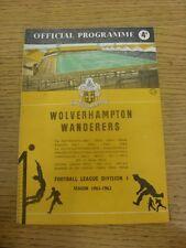 03/02/1962 Wolverhampton Wanderers v Tottenham Hotspur  (Light Fold, Number Note