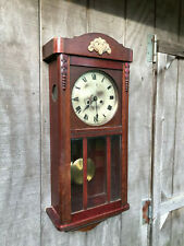 Red Mahogany Time Strike Regulator Clock by Gustav Becker for Parts / Repair