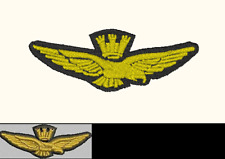 Patch AQUILA AERONAUTICA cm 6 x 2 toppa ricamata ricamo militari aviazione