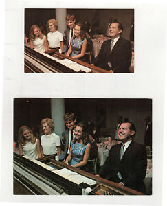 1968 RICHARD NIXON Postcard Lot POLITICAL PC Agnew PRESIDENT Piano FAMILY