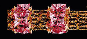 Large Rose Gold & Pink Pull Out Foil Christmas Garland Decoration 8 sections