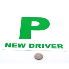 2x New Driver P Plate Stickers Safety Car Learner Just Passed Vinyl Legal Signs