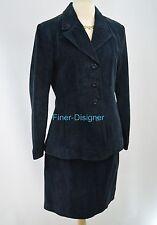 WILSONS LEATHER suede 1980s blazer M suit coat lined mini pencil skirt 8 VTG NEW