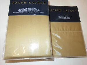 Ralph Lauren 624 Sateen 4 Piece Queen Sheet Set Polished Bronze NEW