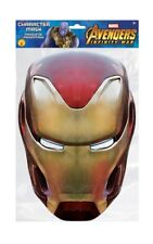 Iron Man Marvel Infinity War Official 2D Card Party Face Mask Fancy Dress Up