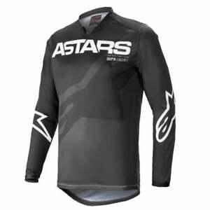 Alpinestars 2021 Adults Racer Braap Motocross MX Bike Jersey - Anthracite/White
