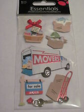 Scrapbooking Stickers Sandylion Dimensional Moving Truck Boxes For Sale Basket