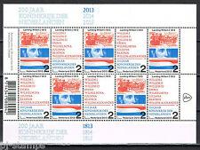 Nederland 2013 vel 3133-3134 200 jaar Koninkrijk der Nederlanden  - Postfris MNH