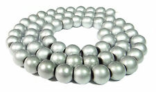 Hematite Beads Balls Matte Silver 6 mm Cord for Chain Hematite Rounds