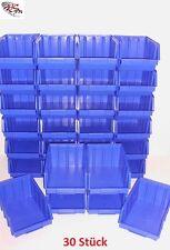 30 Stapelboxen Gr.4 Stapelkästen Stapelkisten Sichtlagerkästen 340x222x157mm Neu