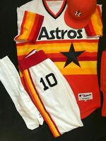 Houston Astros Authentic Majestic Throwback Game Uniform Jersey Pants Hat 1976