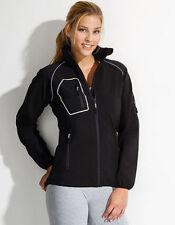 Ropa deportiva de mujer chaqueta de color principal negro de poliéster
