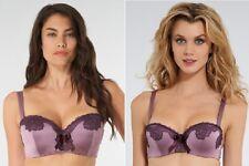 Bnwt La Senza 32A 32C 34B 34C 36A 36FF 38B Purple Silk & Lace Balconette Bra