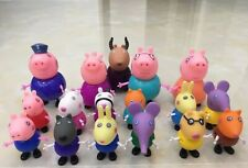 17 peppa pig Figurines Pigs Family George Pig Mama Papa Friends Grandma Grandpa