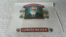 Early 1900s cigar box label Conrad Weiser Berks County, Pa beautiful condition