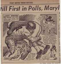1953 newspaper panel - Larry White - University of New Mexico Football