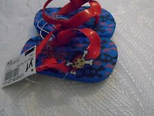 Disney Store Jake and The Never Land Pirates Flip Flops Sandals Shoes Boy Size 11//12