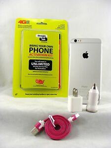 Apple iPhone 6 Plus - 16GB Silver (Straight Talk/Verizon 4G LTE Nano SIM Card)