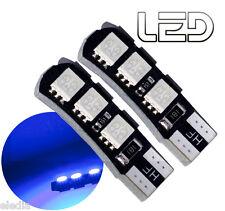 2 Ampoules W5W T10 6 LED BLEU Pare soleil plafonnier Coffre bas de porte sols