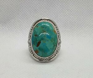 Sterling Silver Turquoise Ring-Huge