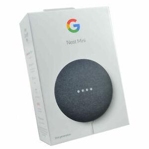 Google Nest Mini Charcoal Smart Bluetooth Wireless Voice Operated Info Speaker