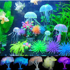 Aquarium Fish Tank Landscape Decoration Glow Simulation Jellyfish Plant Ornament