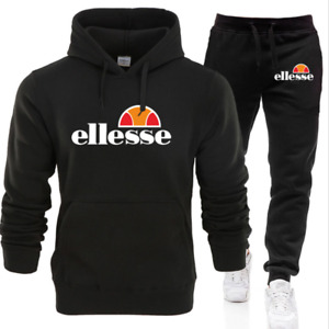 Men Ellesse Hoodies+Pants Tracksuit Set Sweatshirt Bottoms Sport Jogging 2Pcs