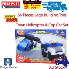 Brand New Best Lock LEGO Town Helicopter & Cop Car Set 56 Pieces