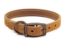 Ancol quality bridle leather dog collar/lead.Blue,Brown,Tan XS,S,M,L💕