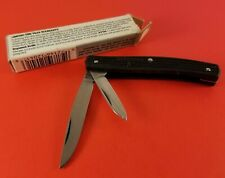 Vintage Pocket Knife Imperial Apex 2 Blade Black Plastic 84 mm Long Closed