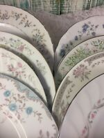 8 - Vintage Mismatched China Dinner Plates  Pink Blue Boho Wedding Shabby #6