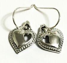 Scott Kay Silver Heart Cutout-Heart Hook Earrings Women Lady Valentine Gift NWT