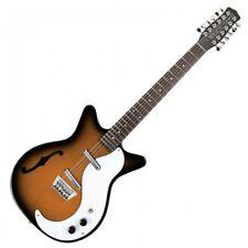 Danelectro DC59TSB Dano 59 Reissue TABACO MOTIVO SOLEADO 12 cuerdas de guitarra eléctrica